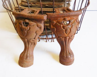 Two cast iron Clawfoot tub feet brackets furniture stove restoration hardware supplies
