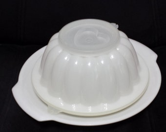 Vintage Tupperware Jello Mold, # 616, 4 piece