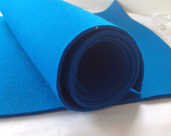 WOOL FELT - Turquoise - 3mm thick