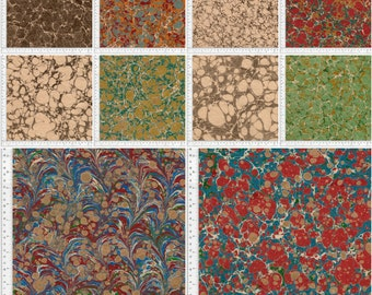 Digital Hand Marbled Paper, 40 Files, Instant Download, Pack b6b