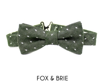 Olive Dot Kids Bow Tie