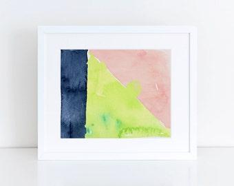 Abstract Print, Abstract Wall Art, Abstract Art Print, Watercolor Art Print, Nursery Wall Art, Watercolor Wall Art