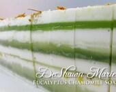 SOAP - 3 lb. Eucalyptus Chamomile Vegan Handmade Soap Loaf, Wholesale Soap Loaves, FREE SHIPPING