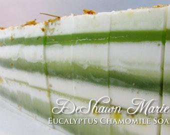 SALE SOAP - 3 lb. Eucalyptus Chamomile Vegan Handmade Soap Loaf, Wholesale Soap Loaves