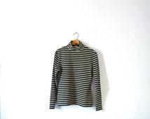 Vintage 90's striped turtleneck, Express women's size large, long sleeved