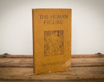 Antique 1908 The Human Figure HC Book, Chicago Art Institute, 2nd Edition