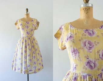 1940s Violet Rose sweet garden dress / 40s sheer beauty