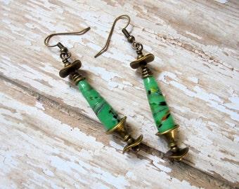 Mint Green Teardrop Earrings (2303)