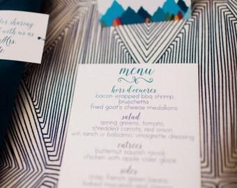 Wedding Menus, Modern Calligraphy Wedding Stationery