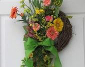 Spring Wreath – Springtime – Door Wreath – Front Door Wreath – Outdoor Spring Wreath