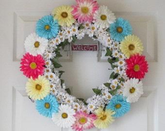 Daisy Welcome Wreath