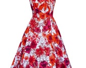 Tiger Lilly Floral Pinup Halter Swing Dress