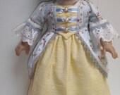 "Colonial Gown, Cap, Petticoat, & Shoes Elizabeth Felicity fits 18"" inch dolls"