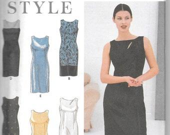 Simplicity 9108 Little Black Sheath dress STYLE Size 8 to 18 UNCUT