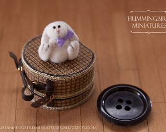 Fluffy Easter Bunny C 1/12 scale dollhouse miniature