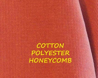 Copper Pink, Tiny Honeycomb, Waffle Texture Home Decor or Upholstery Fabric, Heavy Weight, Cotton Polyester, half yard, B17