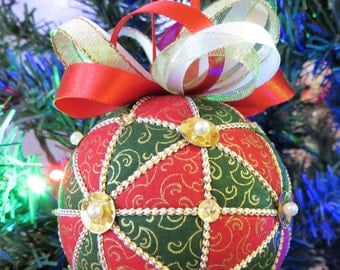 Christmas Ornament Tutorial - Pattern - Instructions - DIY - No Sew - Kazaguruma