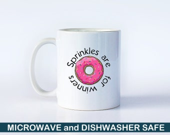 Sprinkles are for Winners | Funny Mug | Flo from Progressive | Pop Culture Gift | Funny Gift | Gag Gift | Donut Mug | Funny Coffee Cup | M13
