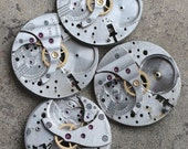 Vintage pocket watch movements -- set of 3 -- D9