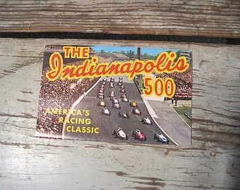 1965 The Indianapolis 500 Souvenir Folding Postcards