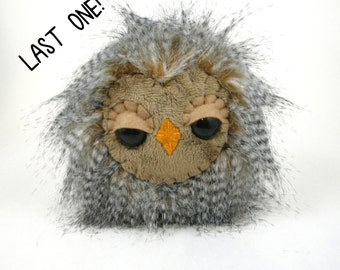 Owl Toy - Stuffed Owl - Sleepy Owl Toy - Kids Toy - Plush Owl - Woodland Toys - Last one