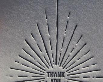 Stunning Letterpress Thank You Stationery Set