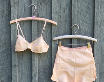 1930s Silk Tap Pants & Bralette