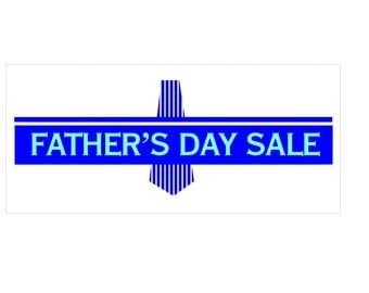 Fathers Day Sale Banner / custom banner / Papa banner / custom color / Special day / vinyl banner / decal banner