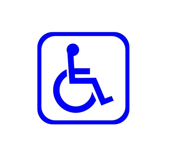 Handicap decal / networking stickers / vinyl decals / sign decals / vinyl sign / accessible / good / handicap /