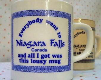 vintage niagara falls souvenir mugs