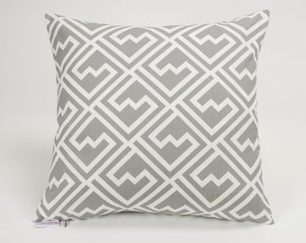Storm Gray Shakes Throw Pillow Cover - 16 inch