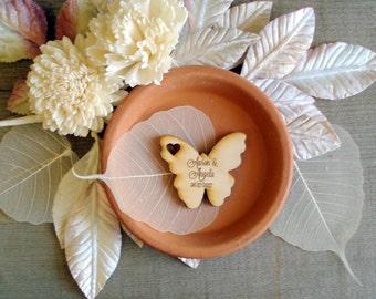 Wood Butterfly Wedding Favors 30 pieces Butterflies