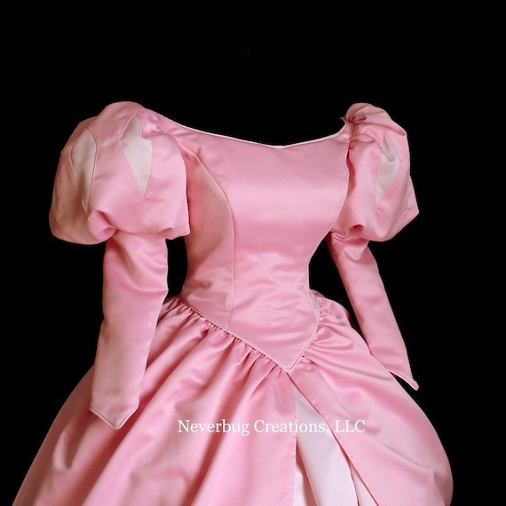Little Mermaid Classic Pink Ball Gown Custom Costume