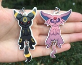 BOTH Espeon and Umbreon Dangling Tail Keychain