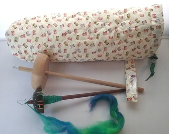 Quilted spindle bag spinning Cotton Spools