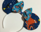 Finding Dory Mouse Ears with Bow - Mad Ears - IN STOCK