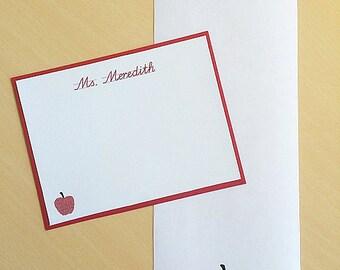 Gift for Teacher, Personalized Teacher Notepad, Stationery Set, Teacher Stationery, Teacher Gifts, Teacher Personalized, Assorted Styles