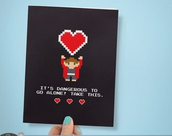 Geek Love Card | Printable Card  and Envelope | INSTANT DOWNLOAD | Video Game Card | Printable Gift | Geek Card | DIY Gift