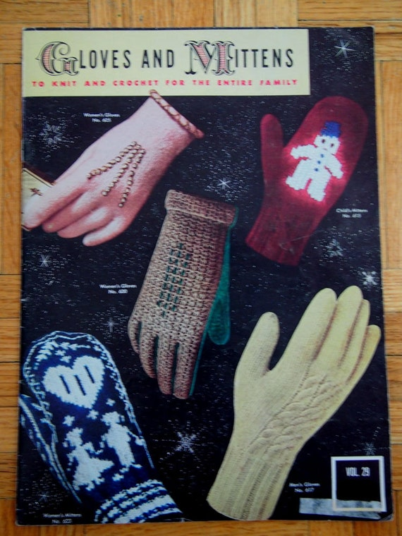 ON SALE Vintage Knitting Pattern Book - Gloves and Mittens