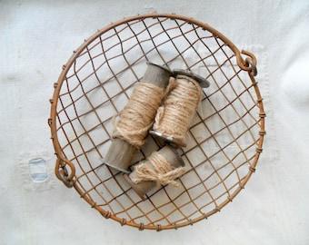 Vintage Round Wire Basket, Small Wire Basket