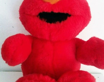 Vintage Tickle Me Elmo Talking Laughs and Shakes Stuffed Doll Toy Animal 1996