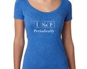 Periodic Table I NAP PERIODICALLY Women's T-Shirt by Periodically Inspired - Scoopneck, Super-Soft Tri-Blend Tee, Vintage Royal Blue