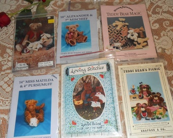 Six Vintage BEAR Sewing Patterns 1980's - 1990's