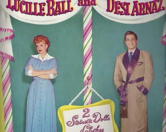I Love Lucy Lucille Ball and Desi Arnaz Paper Doll Folder, C1953  (No dolls or costumes)