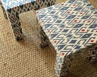 Upholstered Parson's Side Tables - Design Your Own In Any Fabric