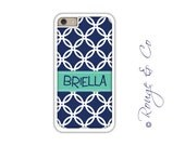 Monogram iPhone 6/6S * 6/6S PLUS * 5/5S * 5C personalized circles phone case in custom colors with monogram or name