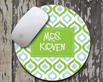 LIME OGEE Personalized Mouse Pad, Personalized Mousepad, Monogrammed Mouse Pad, Monogrammed Mousepad, Custom Mouse Pad, Custom Mousepad