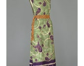 90s Maxi Dress Sundress Paisley Dress Purple Green Dress Tribal Print Dress Sleeveless Scoop Neck 1990s Dress Summer Dress Plus Size