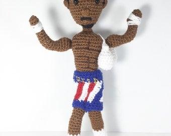 Collectable Adonis Creed Amigurumi Crochet Doll