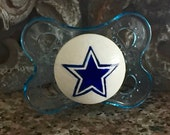 Dallas Cowboys Custom Hand Painted Pacifier by PiquantDesigns